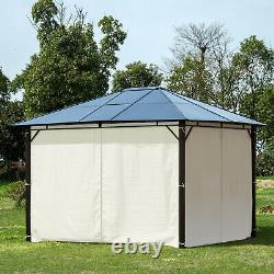 10' x 12' Outdoor Steel Hardtop Party Gazebo Tent Canopy Cover BBQ Shelter