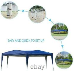 10'x 20'Blue Easy Pop Up Gazebo Canopy Wedding Party Tent Outdoor Awnings /w Bag