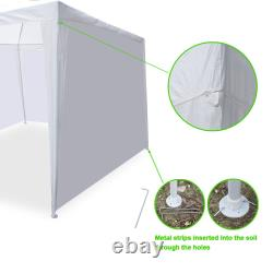 10' x 20' Canopy Party Wedding Tent With 6 Walls Garden BBQ Tent Gazebo Outdoor