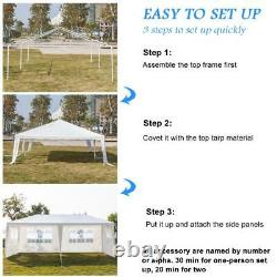 10 x 20' Outdoor Gazebo Party Tent with 6 Side Walls Wedding Canopy Cater Events