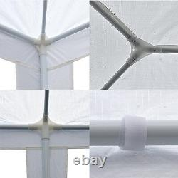 10' x 30' Gazebo Wedding Party Canopy Tent With 8 Sidewalls Outdoor White
