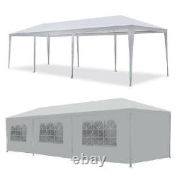 10' x 30' Gazebo Wedding Party Tent White Canopy With 8 Sidewalls Outdoor