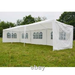 10'x 30'Outdoor Canopy Party Wedding Tent 5 Walls Gazebo Pavilion Cater Events