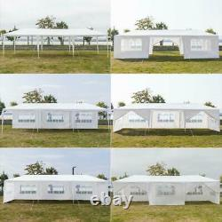 10'x 30'Party Tent Outdoor Gazebo Canopy Wedding With 8 Removable Wall White