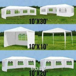 10'x 30' White Party Canopy Tent Outdoor Gazebo Heavy Duty Pavilion Event Walls