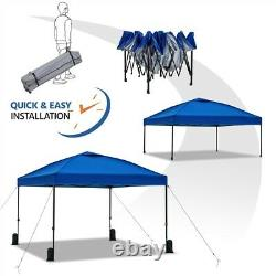 10'x10' Outdoor Pop Up Canopy Tent Instant Adjustable Gazebo Shade Ez Assembly