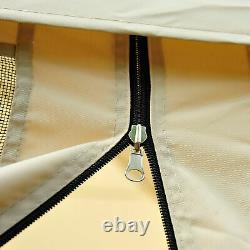 10'x10' Outdoor Pop Up Party Tent Patio Gazebo Canopy Mosquito Net Shade Tan