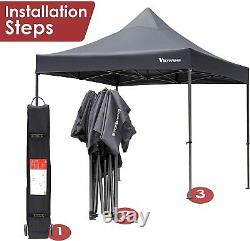 10'x10' Pop Up Canopy Party Commercial Folding Tent Shelter Gazebo Outdoor