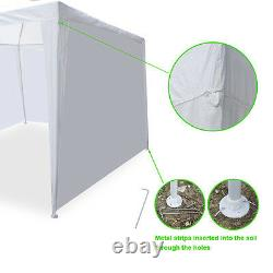 10'x20' Canopy Tent Outdoor Water Proof Durable Pavilion Events With 6 Sidewalls