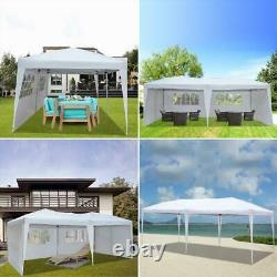 10'x20' EZ POP UP Canopy Party Tent Outdoor Gazebo Wedding PE With Bag 4 Walls New