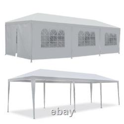 10'x30' Canopy Party Wedding Tent Gazebo Pavilion with8 Side Walls Outdoor White