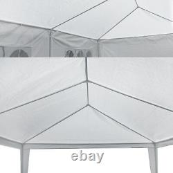 10'x30' Gazebo Canopy Wedding Party Tent Events 8 Removable Walls White Outdoor
