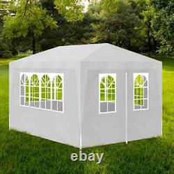 10'x30' White Outdoor Gazebo Canopy BBQ Wedding Party Tent Removable Walls 8