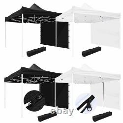 10x10' EZ Pop Up Canopy Commercial Tent Outdoor Business Gazebo Shelter Sidewall