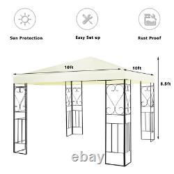 10x10 Patio Outdoor Gazebo Canopy Tent Steel Frame Shelter Patio Party Awning