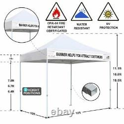 10x10 Pop Up Canopy Outdoor Gazebo Canopy Wedding Party Tent WithN Removable Walls