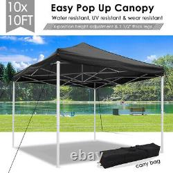 10x10 ft Pop Up Canopy Tent Patio Outdoor Instant Gazebo Folding Shade