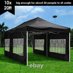 10x20ft Pop Up Canopy Instant Folding Gazebo Patio Outdoor Party Tent 420D