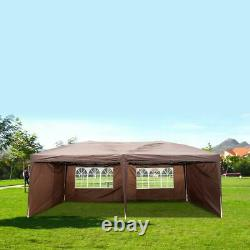 10x20ft Pop Up Canopy Outdoor Gazebo Wedding Party Canopy Tent with 4 Sidewalls