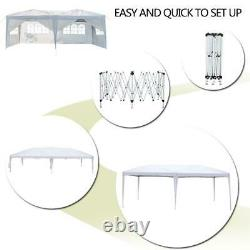 10x20ft Pop Up Canopy Outdoor Gazebo Wedding Party Tent with 6 Sidewalls White