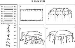 10x30' Event White Outdoor Wedding Party Tent Patio Gazebo Canopy with Side Walls