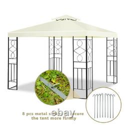 2 Tier 10'x10' Patio Gazebo Canopy Tent Steel Frame Shelter Awning