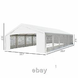 39'x20' Outdoor Heavy duty Wedding Party Tent Event Canopy Cater Gazebo Sidewall