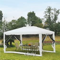 4m x 3m Party Tent Wedding Gazebo Outdoor Waterproof PE Canopy Shade with Panel