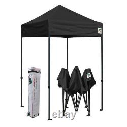 5x5 Black Outdoor Gazebo Commercial Instant Folding Patio Canopy Sports Tent