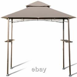8'X5' Outdoor Barbecue Grill Gazebo Canopy Tent Patio BBQ Shelter WithAir Vent