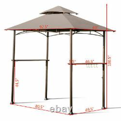 8'X5' Outdoor Barbecue Grill Gazebo Canopy Tent Patio BBQ Shelter WithAir Vent NEW