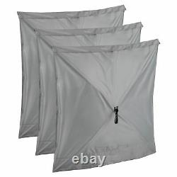 CLAM Quick-Set Escape Portable Camping Outdoor Gazebo Canopy & 6 Wind Panels