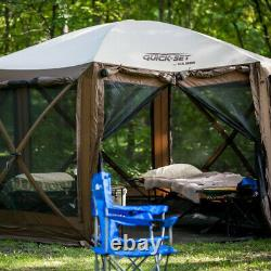 CLAM Quick Set Pavilion Camper 12.5 x 12.5 Foot Outdoor Gazebo Canopy Shelter
