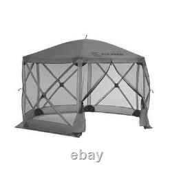 Clam Quick Set Escape Portable Camping Outdoor Gazebo Canopy Shelter, Gray(Used)