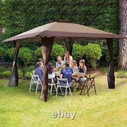 Gazebo Awning Pop-up Outdoor Canopy Tent 13x13ft For Patio Garden Party Wedding