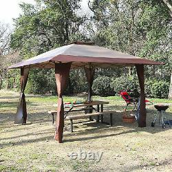 Gazebo Awning Pop-up Outdoor Canopy Tent For Patio Garden Party Wedding 13x13ft