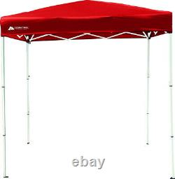 Instant Canopy Tent 4 x 6 Feet Pop Up Shade Sun Shelter Gazebo Outdoor Yard Red