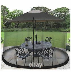 Outdoor Mosquito Net Patio Umbrella Bug Screen Gazebo Canopy Insect Fly Netting