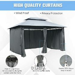 Outsunny 10'x13' Outdoor 2-Tier Canopy Vented Top Steel Gazebo BBQ Party Tent