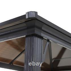 Outsunny 8.3ft Outdoor Double-tier BBQ Grill Canopy Gazebo with 2 Shelf, 6 Hooker