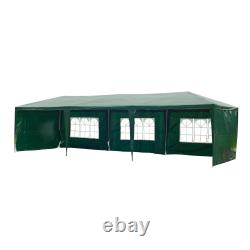 Outsunny 9m x 3m Garden Gazebo Marquee Wedding Party Tent Outdoor Canopy Awning