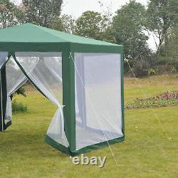 Outsunny Hexagonal Gazebo Outdoor Canopy Party Tent Marquee Waterproof