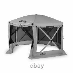 Quick-Set Pavilion Outdoor Gazebo Canopy Shelter Screen Tent, Gray (Used)
