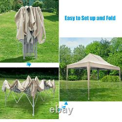 Quictent 10'x15' EZ Pop Up Canopy Wedding Party Tent Outdoor Gazebo With Carry Bag