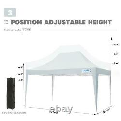 Quictent 10x15 Outdoor EZ Pop Up Canopy Tent Instant Folding Gazebo With Sidewalls
