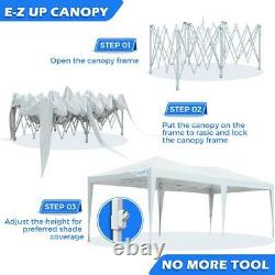 Quictent 10x20 EZ Pop Up Canopy Outdoor Patio Gazebo Event Party Tent WithSidewall