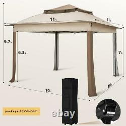 Quictent 11x11ft Pop Up Patio Gazebo Canopy Party Wedding Tent Outdoor Shelter