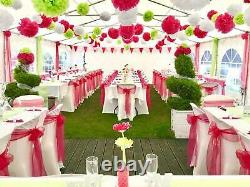 Quictent 20'x40' White Wedding Party Tent Outdoor Shelter Canopy Patio Gazebo US
