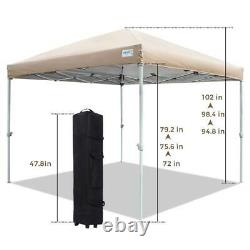 Quictent 8' x 8' Pop Up Canopy Outdoor Party Tent Gazebo Shelter with Carry Bag