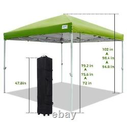 Quictent EZ Pop Up Canopy 10X10 FT Party Tent Folding Patio Gazebo Outdoor Shade